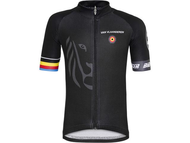 Bioracer Van Vlaanderen Pro Race Pyöräilypaita Lapset, black